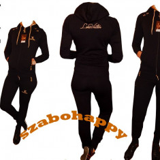 Trening Louis Vuitton pentru dama. - Trening dama, Marime: S, M, L, XL, XXL, Culoare: Negru, Bumbac