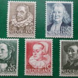 Olanda 1938 44 Euro cultura personalitati - serie nestampilata MNH