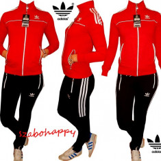 Trening Adidas dama. - Trening dama Adidas, Marime: S, M, L, XL, XXL, Culoare: Rosu, Bumbac