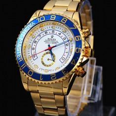 CEAS ROLEX YACHT MASTER 2 GOLD (DAYTONA)-SUPERB-PRET IMBATABIL-CALITATEA 1 !! - Ceas barbatesc Rolex, Elegant, Quartz, Placat cu aur, Rezistent la apa