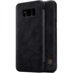 Flip Cover, Nillkin, Qin Series pentru Samsung Galaxy S8, Negru