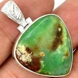Pandantiv cu boulder Crisopraz-Ag 925 - Pandantiv argint