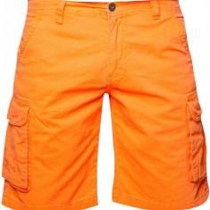 Pantaloni scurti barbati Cargo Fisher&Bennet, bumbac, Portocaliu