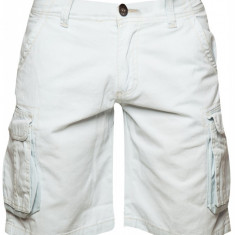 Pantaloni scurti barbati Cargo Fisher&Bennet, bumbac, Albastru deschis