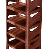 Raft pentru incaltaminte 5 etaje ratan culoare cafea MN0133198 Raki - Pantofar hol