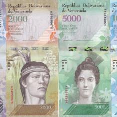 Bancnota Venezuela 1.000, 2.000, 5.000 si 10.000 Bolivares 2016(2017) - PNew UNC - bancnota america