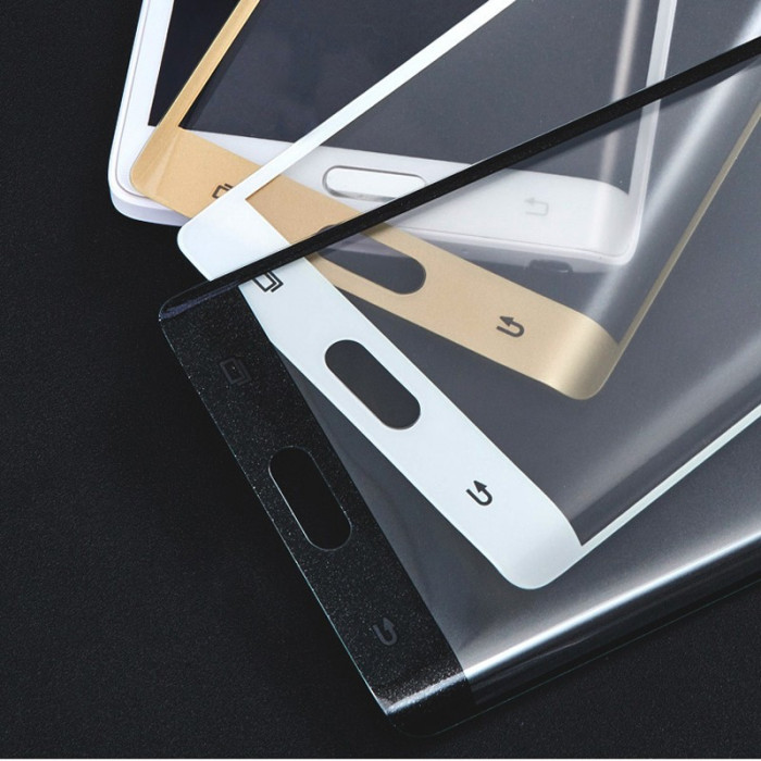 Folie Sticla Curbata 3D / Full size Tempered Glass Samsung Galaxy Note Edge