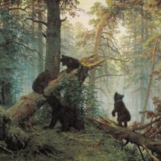 Ivan Șișkin și Konstantin Savițki - Dimineața în pădurea de pini (1889)