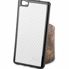 Husa silicon TPU Huawei P8lite Beeyo Carbon Alba Blister Originala - Husa Tableta
