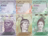 Bancnota Venezuela 1.000, 2.000 si 5.000 Bolivares 2016 (2017) - PNew UNC