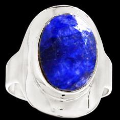 Inel radacina Safir-(masura 8)-Ag 925 - Inel argint