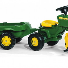 Tractor Cu Pedale Si Remorca Copii ROLLY TOYS 052769 Verde - Vehicul