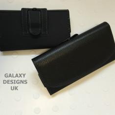 Toc piele prindere curea pantaloni Samsung Galaxy Note 3 - Husa Telefon, Negru