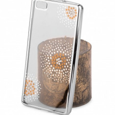 Husa silicon TPU Huawei P8lite (2015) Beeyo Flower Dots Argintie Blister Originala - Husa Tableta