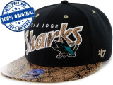 Sapca '47 San Jose Sharks - originala - flat brim - snapback - oficiala NHL, Marime universala, Din imagine