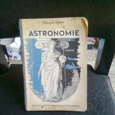 ASTRONOMIE - TRAIAN POPP - Carte Astronomie