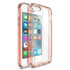 Husa Protectie Spate Ringke Fusion Rose Gold plus folie protectie display pentru iPhone 5/5s/SE