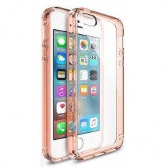 Husa Protectie Spate Ringke Fusion Rose Gold plus folie protectie display pentru iPhone 5/5s/SE - Husa Telefon