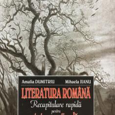 LITERATURA ROMANA RECAPITULARE RAPIDA PENTRU TESTAREA NATIONALA Dumitriu, Jianu - Carte Teste Nationale