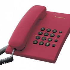 Telefon Analogic cu Fir Panasonic KX-TS500FXR Rosu - Telefon fix