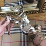 Sandale dama aurii elegante cu toc marime 38+CADOU, Culoare: Din imagine