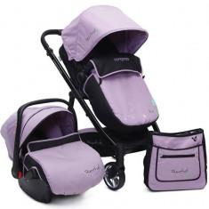 Carucior copii 3 in 1 Cangaroo Rachel Violet - Landou