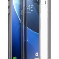 Husa Protectie Spate Ringke Fusion Smoke Black pentru Samsung Galaxy J7 2016 plus folie Invisible Screen Defender - Husa Telefon