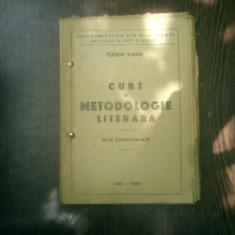 Curs de metodologie literara note stenografiate - Tudor Vianu - Curs diverse stiinte