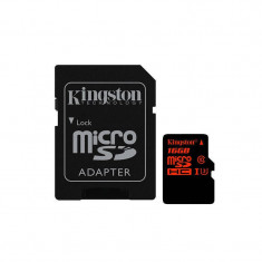 Card Kingston microSDHC 16GB Clasa 10 UHS-I U3 cu adaptor - Card memorie