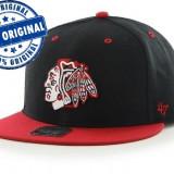 Sapca '47 Chicago Blackhawks - originala - flat brim - snapback - oficiala NHL - Sapca Barbati, Marime: Marime universala, Culoare: Din imagine