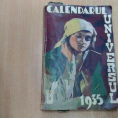 CALENDARUL UNIVERSUL 1935