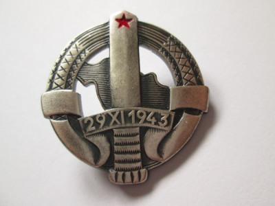 Insigna granicer JNA-armata iugoslava anii 80 foto