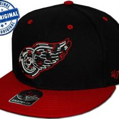 Sapca '47 Detroit Red Wings - originala - flat brim - snapback - oficiala NHL - Sapca Barbati, Marime: Marime universala, Culoare: Din imagine
