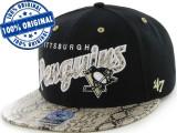 Sapca '47 Pittsburgh Penguins - originala - flat brim - snapback - oficiala NHL, Marime universala, Din imagine