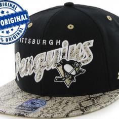 Sapca '47 Pittsburgh Penguins - originala - flat brim - snapback - oficiala NHL - Sapca Barbati, Marime: Marime universala, Culoare: Din imagine