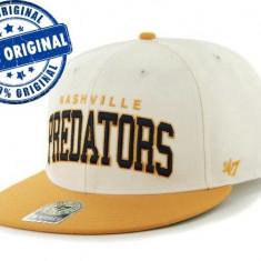 Sapca '47 Nashville Predators - originala - flat brim - snapback - oficiala NHL, Marime universala, Din imagine
