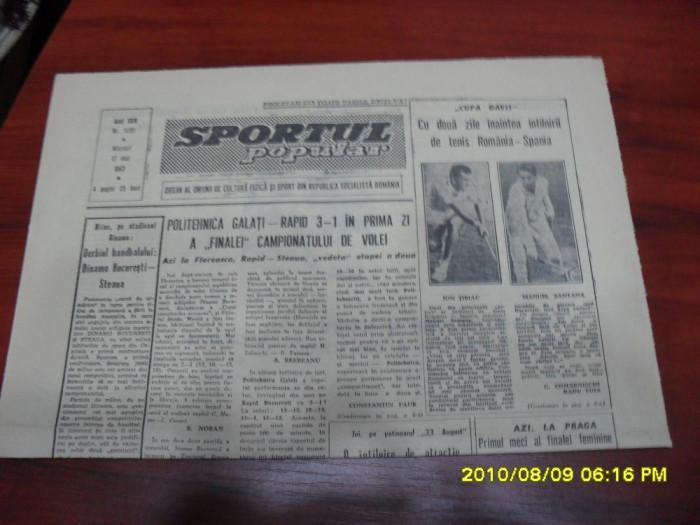 Ziar      Sportul  popular     17   05  1967 foto mare