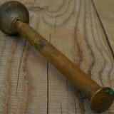 PULVERIZATOR / VAPORIZATOR / POMPIȚĂ VECHE DE FRIZERIE FĂCUTĂ DIN ALAMĂ ȘI LEMN! - Metal/Fonta, Scule si unelte