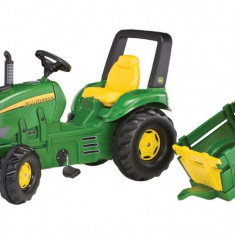 Tractor Cu Pedale Si Remorca Copii ROLLY TOYS 035762 Verde - Vehicul