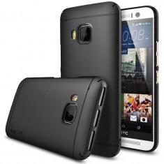 Husa Protectie Spate Ringke Slim black plus folie protectie pentru HTC One M9 - Husa Telefon