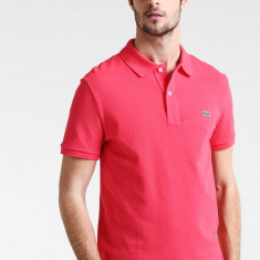 Tricou Lacoste Polo Pink S - Tricou barbati, Marime: S, Culoare: Roz, Maneca scurta, Bumbac
