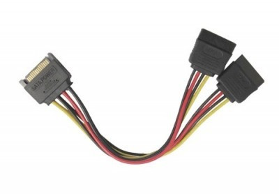 Cablu alimentare sata, adaptor SATA la 2 SATA spliter Y foto