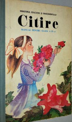 Manual de citire pentru clasa a IV- a - 1987 foto