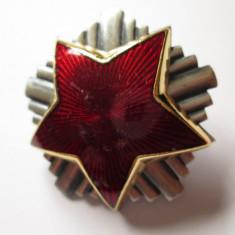 Iugoslavia-Steaua Rosie,semn arma/cuc cascheta ofiter JNA(armata+militie)