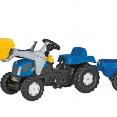 Tractor Cu Pedale Si Remorca Copii ROLLY TOYS 023929 Blue - Vehicul