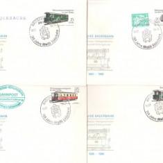 DDR 1986 - tren, 4 FDC