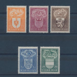 Belgia 1947 30 Euro blazoane - serie nestampilata MH/MNH