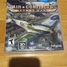 PS3 Air conflicts Secret wars / 3D & MOVE compatibil - joc original by WADDER - Jocuri PS3, Simulatoare, 12+, Single player