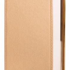 Husa Piele Huawei P8lite (2015) Beeyo Glamour aurie Blister Originala - Husa Tableta