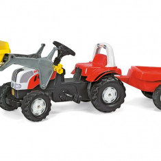 Tractor Cu Pedale Si Remorca ROLLY TOYS 023936 Alb Rosu - Vehicul